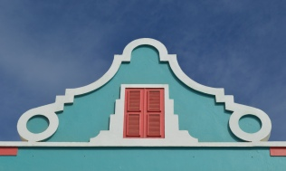 facade in blue, Bonaire
