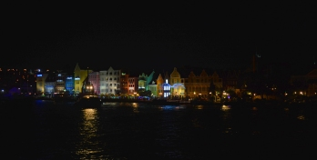 Handelskade at night, Curacao